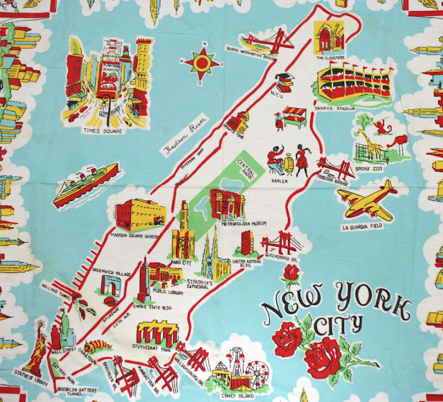 random notes geographeratlarge Unconventional yet informative – Manhattan Tourist Map