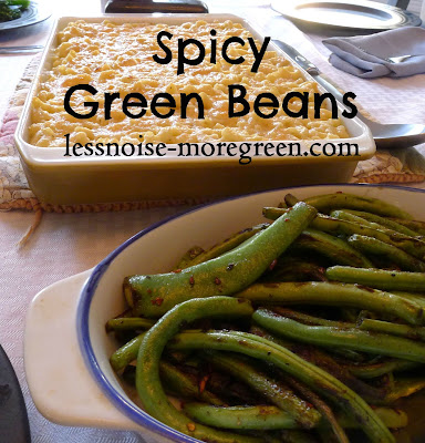 Spicy Green Beans Recipe, lessnoise-moregreen.com