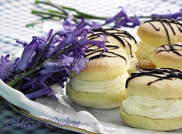 jojó fánk csokival díszítve fotó