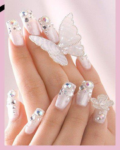 White Fairy Nail Art