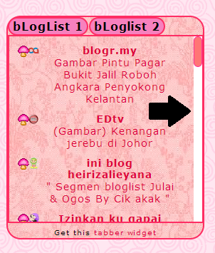 TUTORIAL BLOG, tutorial bloglist, cara scroll box pada blog list,