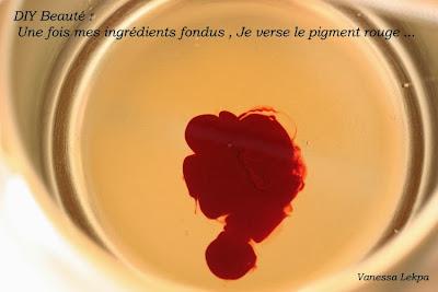 recette brillant à lèvres colorant rouge bio naturel huile de ricin coco fractionné