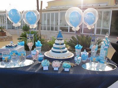 Mesas de chuches mesas en azules for Mesa de chuches bautizo