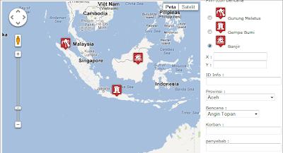 ... tentang cara membuat Aplikasi Web GIS dengan PHP dan Google Maps