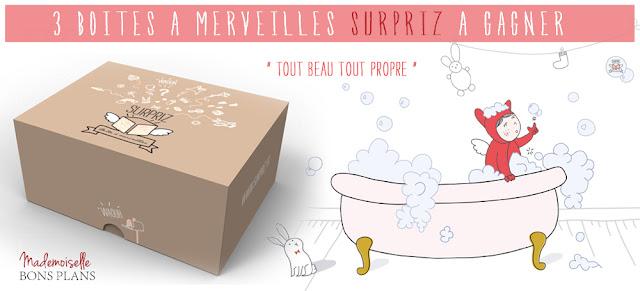 Jeu SURPRIZ et Mademoiselle Bons Plans: 3 Boîtes à Merveilles enfant à gagner