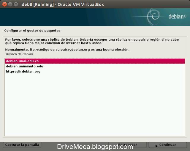 DriveMeca instalando Debian Jessie paso a paso