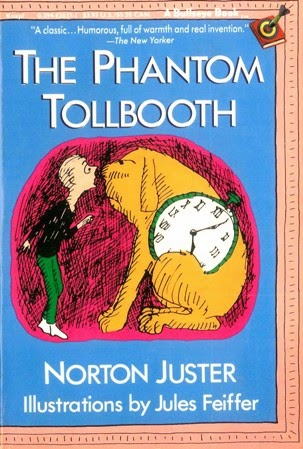 Hoe Phantom Tollbooth aan de bandnaam komt- Norton Juster - Phantom Tollbooth book cover
