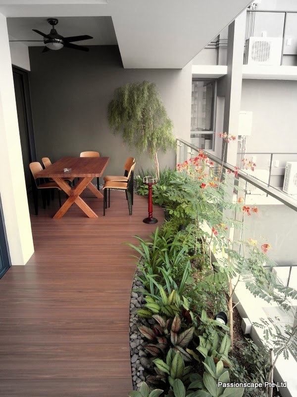 Singapore Landscape Design: Balcony In-style 4