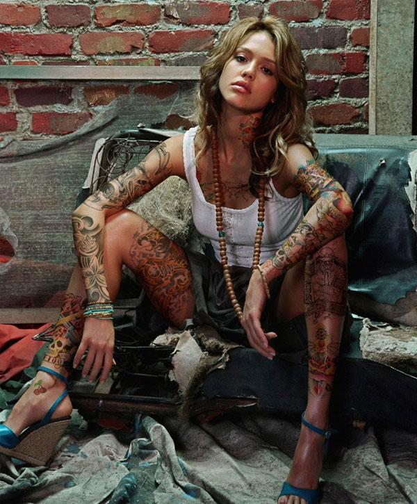 jessica albas tattoo info. Black Bedroom Furniture Sets. Home Design Ideas