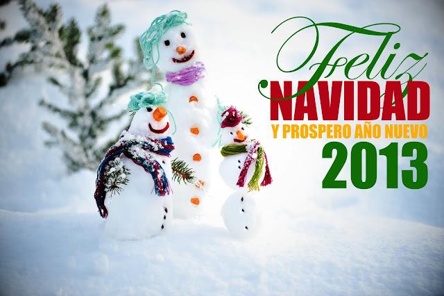 Muñeco de Nieve Feliz Navidad y Prospero Año nuevo 2013