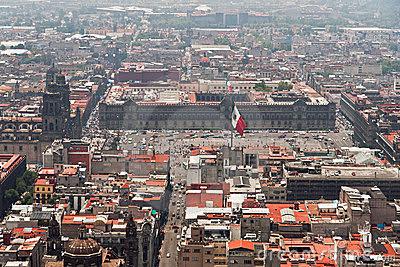 Vista de Zócalo y Edificios aledaños Ciudad de México