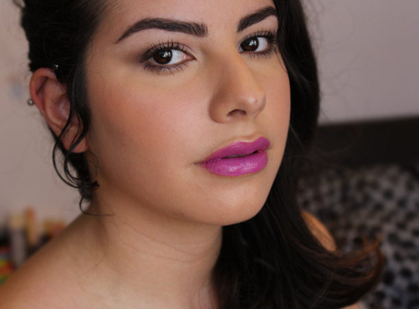 covergirl lip perfection divine lipstick plum mauve purple makeup look ingot eyeshadow 423