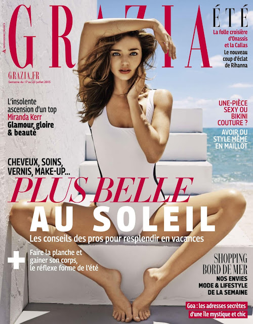 Supermodel @ Miranda Kerr - Grazia France, July 2015