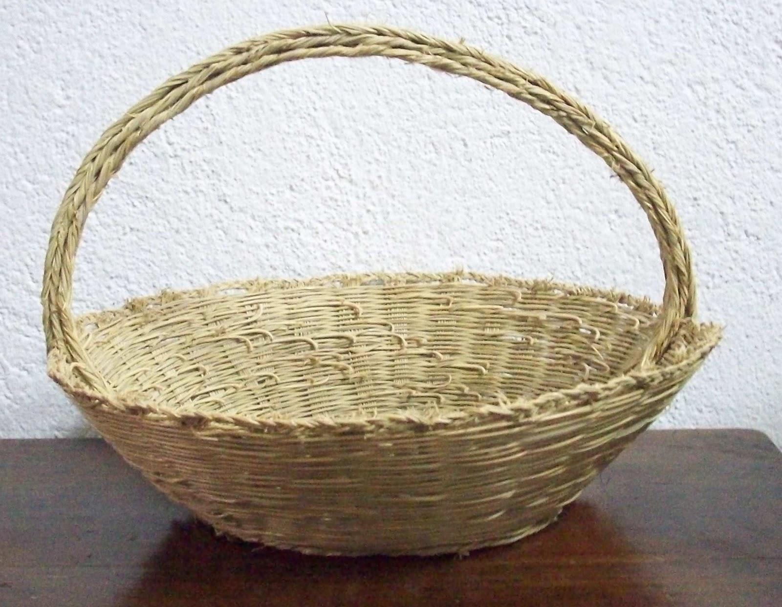 Objetos del pasado objetos de esparto - Cestas de esparto ...