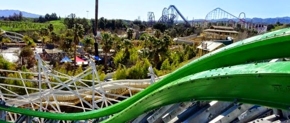 Photos de chantier pour Twisted Colossus à Six Flags Magic Mountain