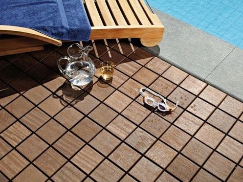 Modular outdoor wood flooring by bellotti larideck - Outdoor patio wood flooring ...