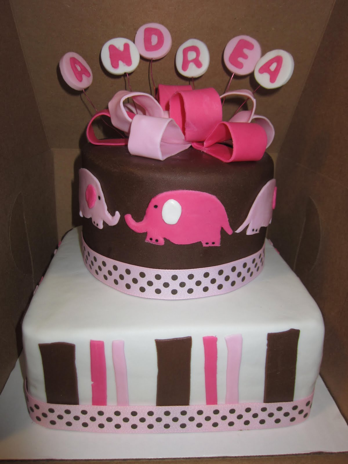 SABtabulous Cakes Elephant Baby Shower Cake