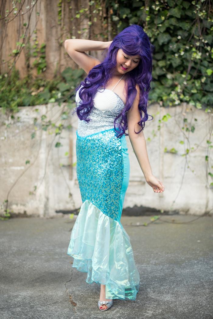 DIY mermaid halloween costume