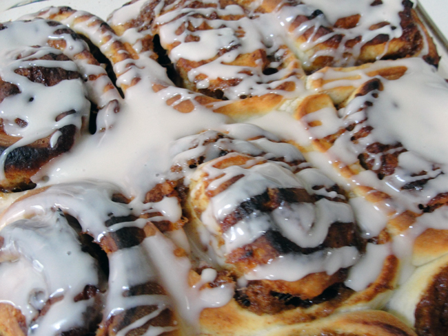 actually found a recipe for roasted banana cinnamon buns online, and ...