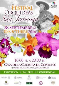 PROGRAMA DEL FESTIVAL DE LAS ORQUÍDEAS SAN JERÓNIMO COATEPEC DEL 28 DE SEPTIEMBRE AL 2 DE OCTUBRE