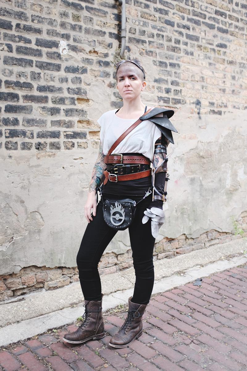 DIY Mad Max Imperator Furiosa Halloween Costume —Mini Penny Blog