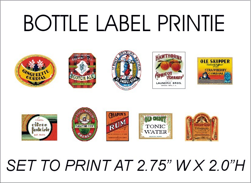 bottle label printie jpg 825 600 more miniature wine miniature labels ...