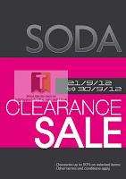 SODA Clearance Sale 2012