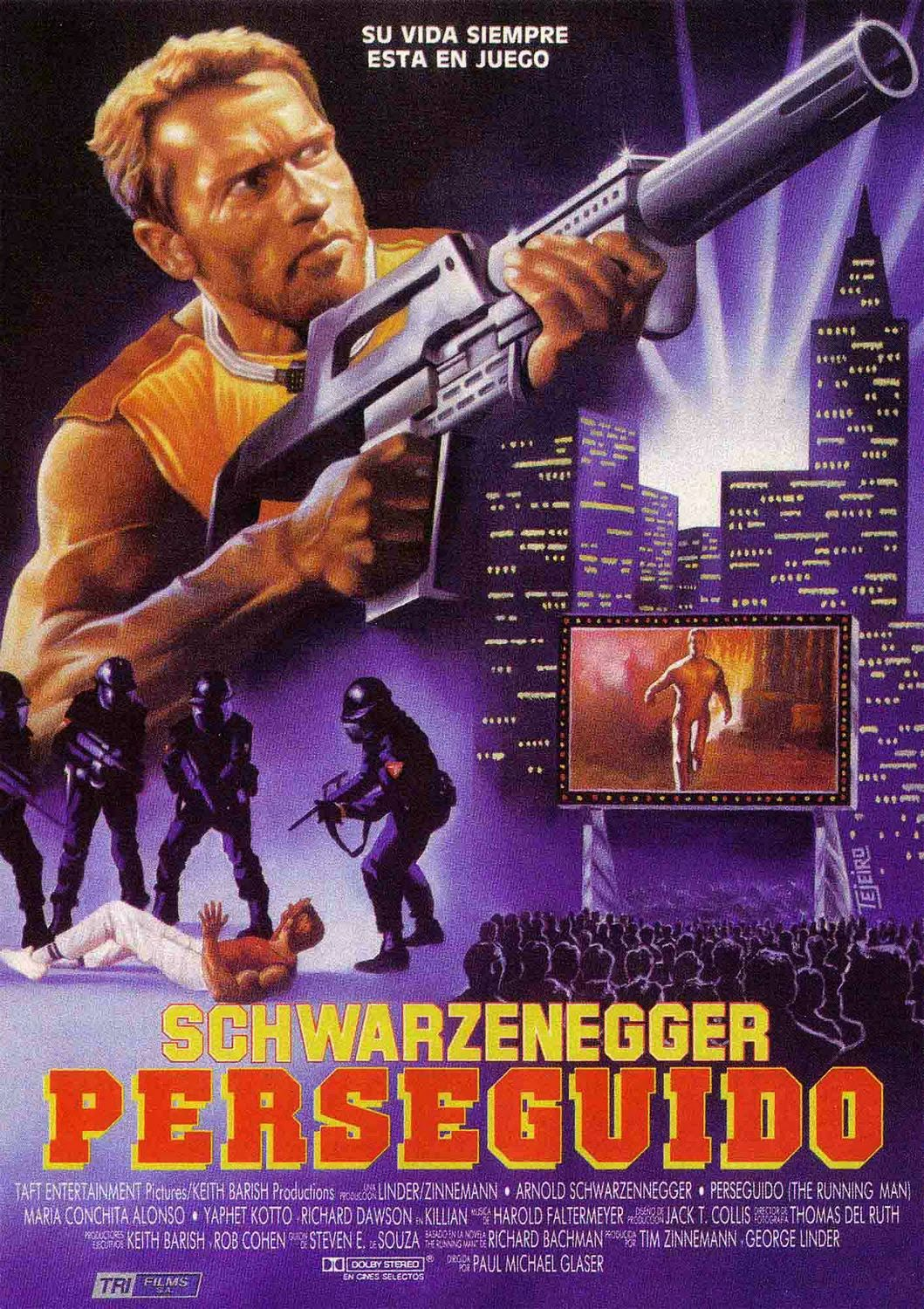 Film Thoughts: SCHWARZENEGGER SWEEPS: The Running Man (1987)