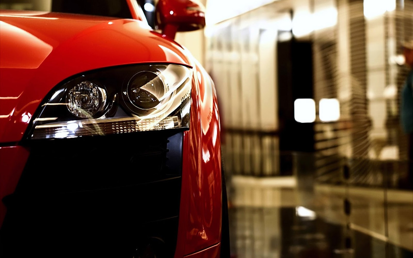 Red Audi TT Head Lamp