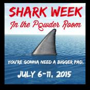 Shark Week In The Powder Room
