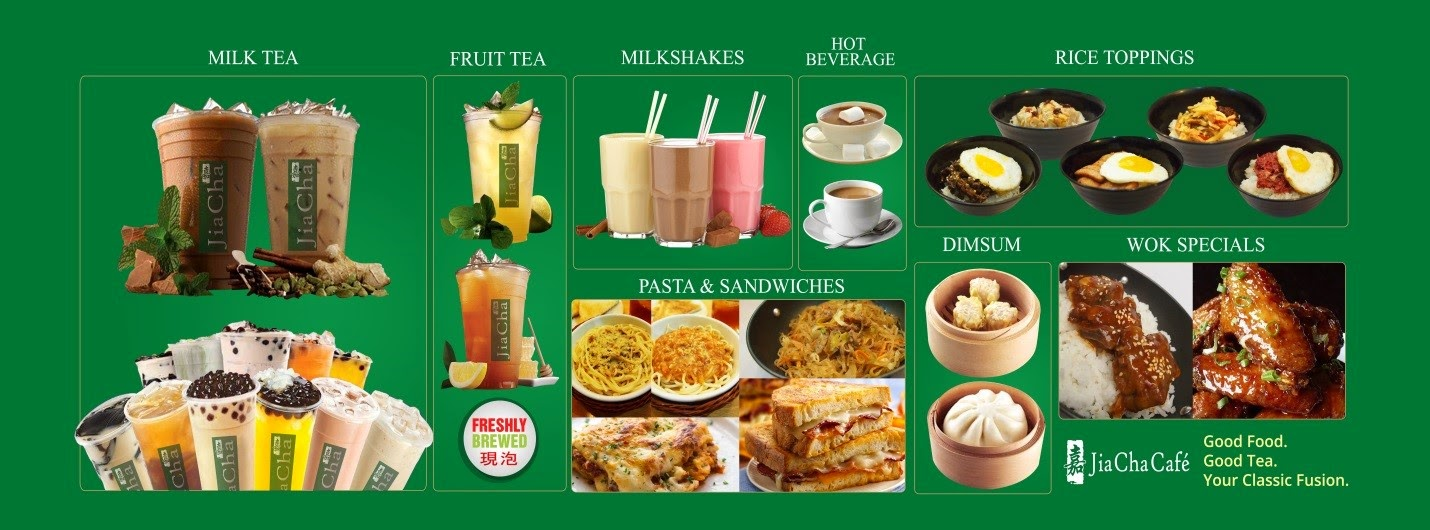 Jia Cha Cafe - Product Offerings