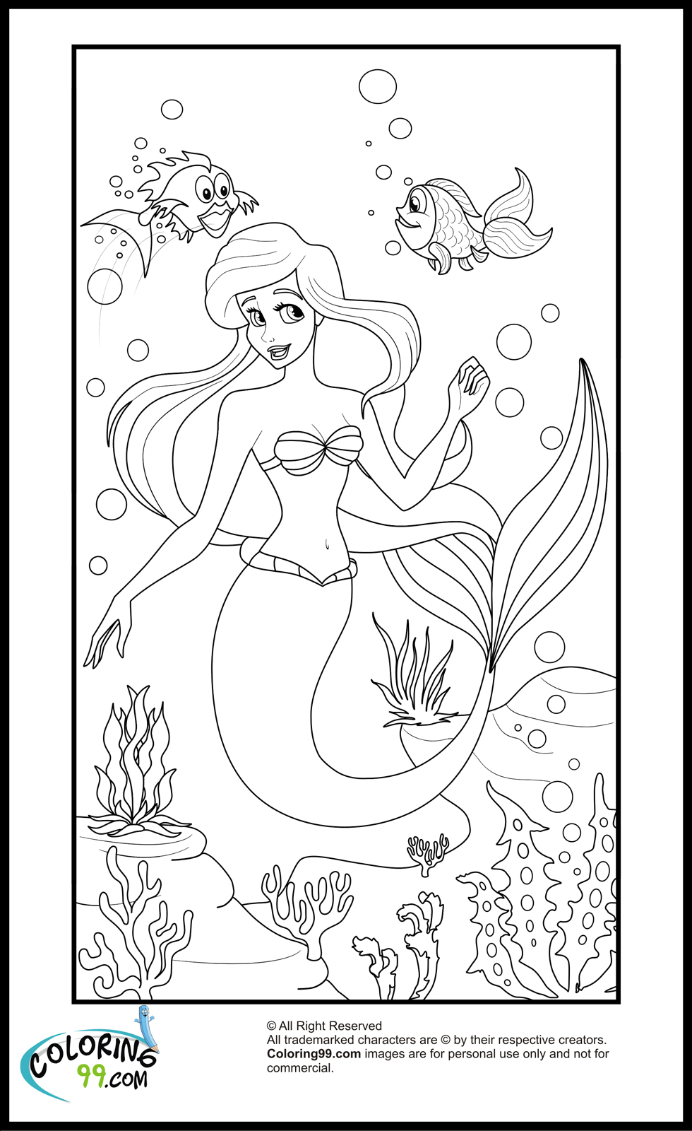 Disney Princess Ariel Coloring Pages | Team colors