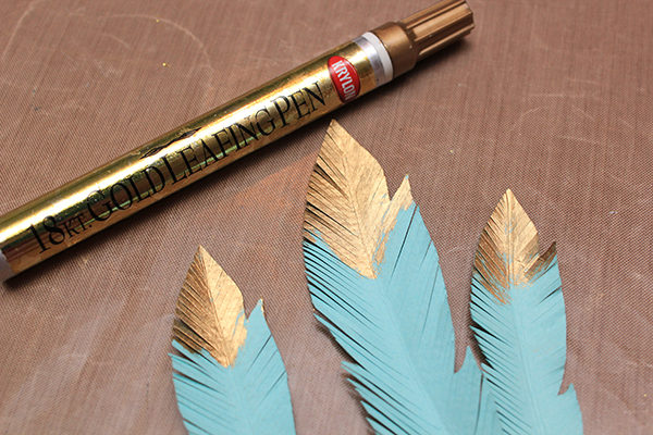 Gold Tipped Feathers Tutorial 5
