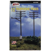 Model Railroad Atlas Telephone Poles