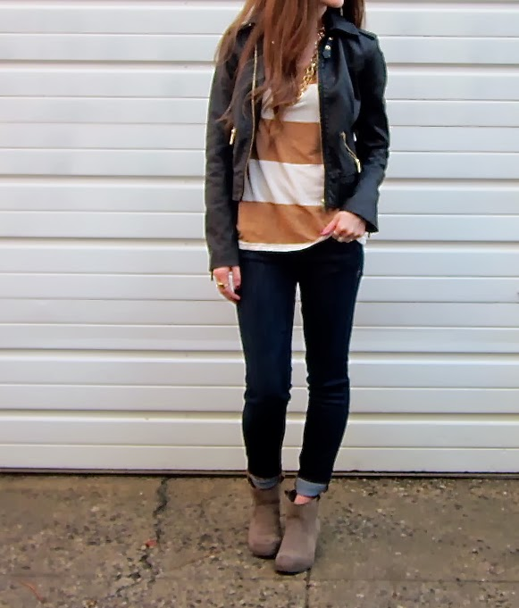 Pleather and Booties and Stripes… OH MY!