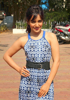 Actress Neha Sharma Pictures in Long Dress On The Sets Of Nandini 1