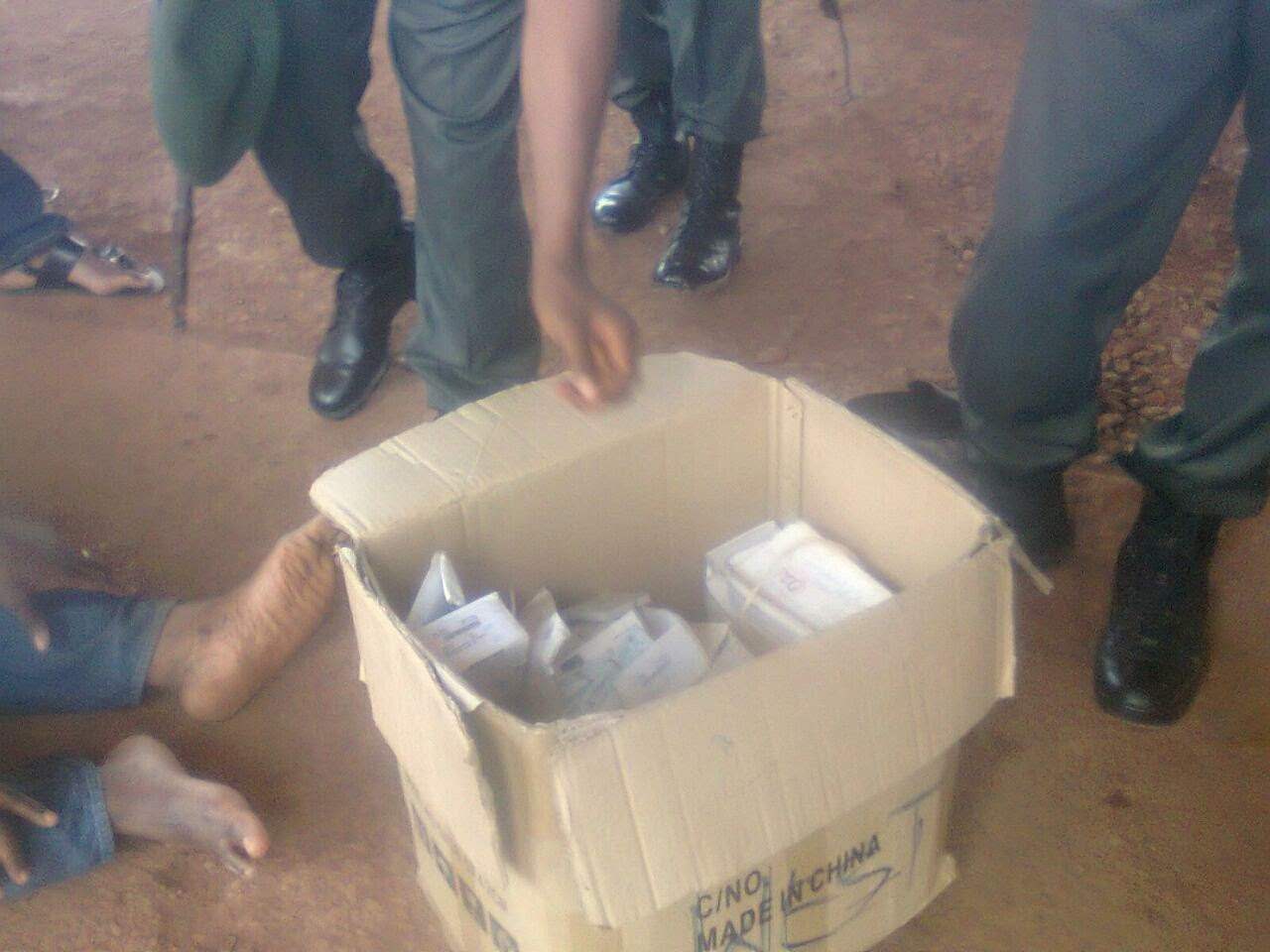 Pics: PDP House of Reps aspirant allegedly caught with 4000 PVCs in Enugu  Photo-1