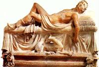 Skulptur behagfullt tillbakalutad