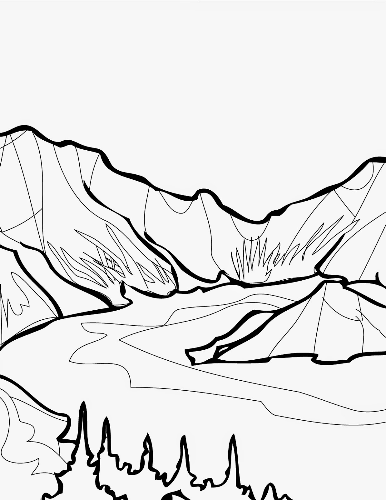 coloring pages on lake - photo#16