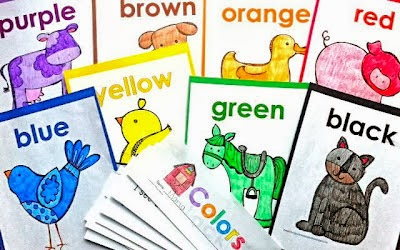 color word Interactive farm book and poster set... great for teaching color words!