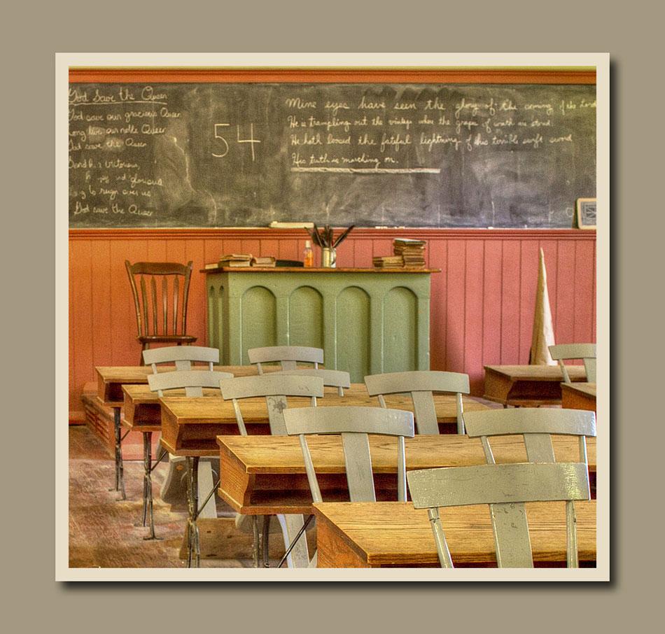 Interior of the school at Black Creek Pioneer Village