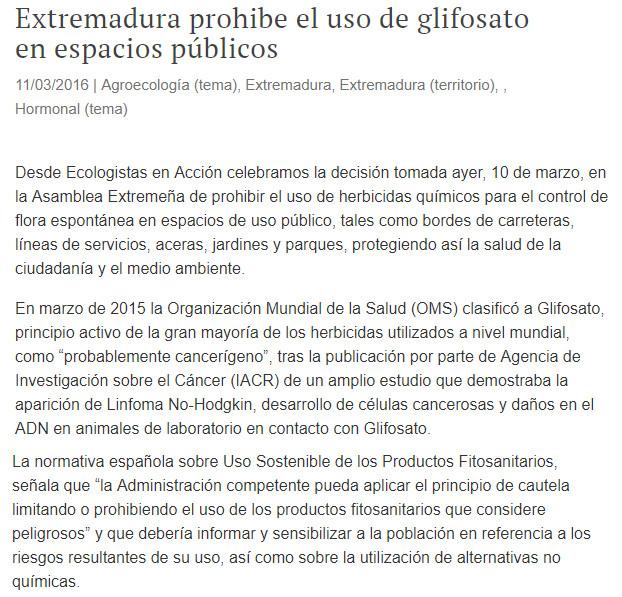 HERBICIDAS EN ESPACIOS URBANOS