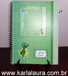 Caderno de Mensagens Infantil - Menina e Menino