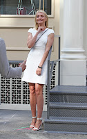 Cameron Diaz wearing a short white dress