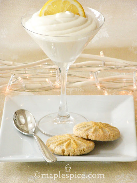 Vegan Lemon Coconut Posset with Golden Cardamom Shortbread
