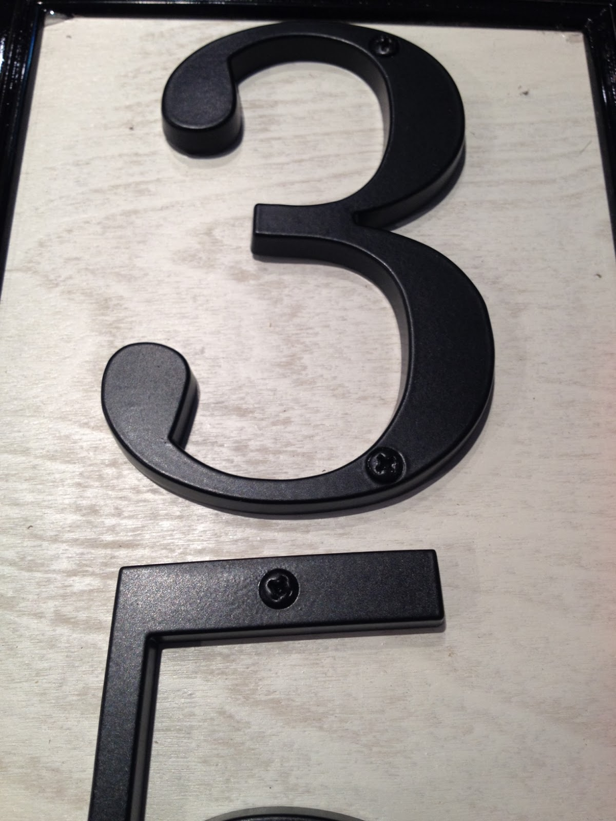 Two it yourself diy house number sign and how to drill for House number frames