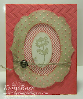3-D frame made with Big Shot and Stampin' Up! Oh Hello stamp set