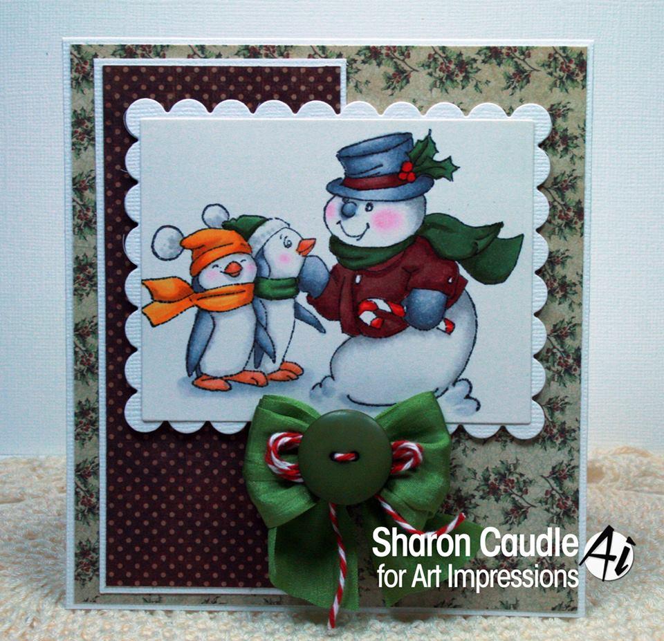Art Impressions Blog Challenge 173 Rudolph Red Evergreen Plus