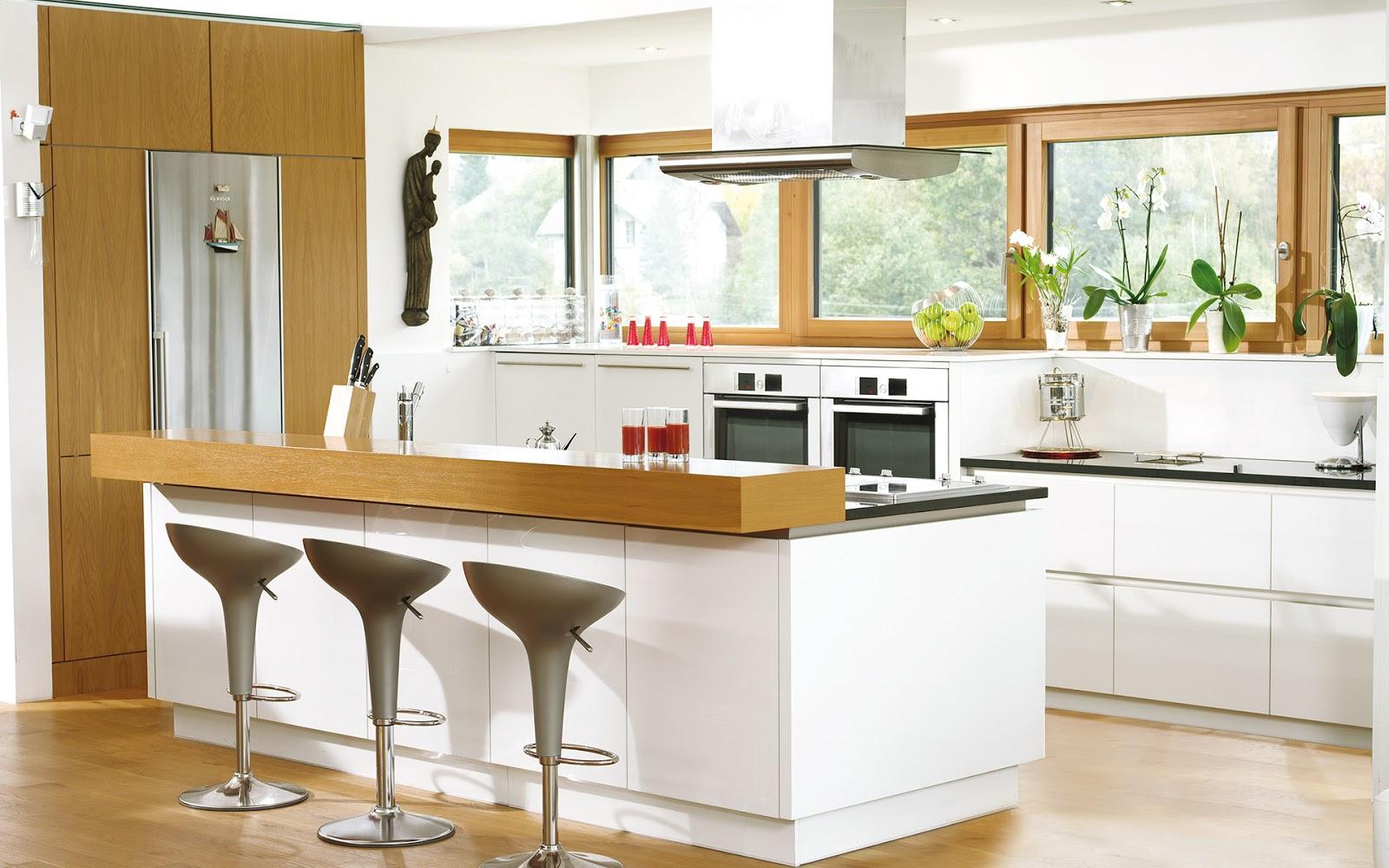 30 ideas de mesas y barras para comer en la cocina Barra cocina madera