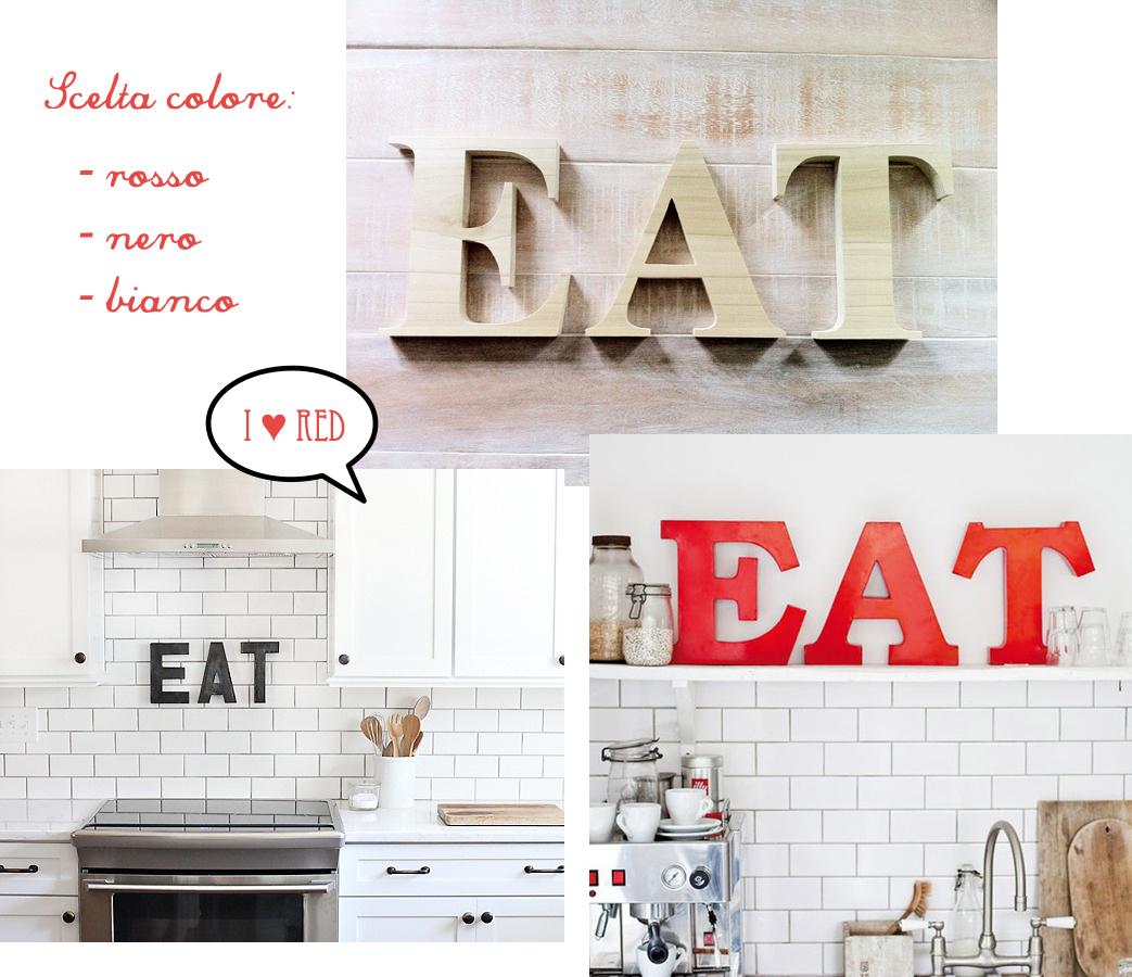 Eat una scritta in cucina shabby chic interiors - Carta da parati da cucina ...